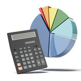 Calculator with diagram Stock Photography