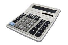 Calculator die met het knippen van weg wordt geïsoleerde. Stock Afbeeldingen
