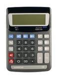 Calculator die op wit wordt geïsoleerdb Stock Fotografie