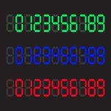 Calculator digital numbers. Digital numbers set. Vector illustration royalty free illustration