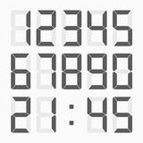 Calculator digital numbers set. Royalty Free Stock Photography