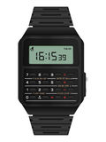 Calculator digital watch Royalty Free Stock Images