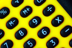 Calculator Digits. Close up of a pocket calculator digits stock photos