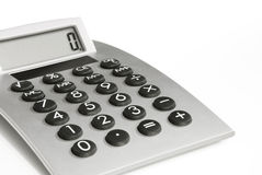 Calculator with Display. Grey Calculator with Display on white Background royalty free stock photography
