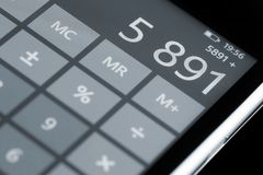 Calculator on display. Royalty Free Stock Photos