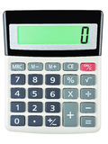 Calculator with 0 on display Royalty Free Stock Image