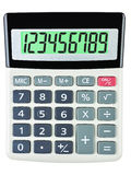 Calculator with 123456789 on display Royalty Free Stock Photos