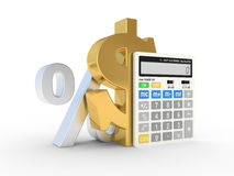 Calculator and dollar sign Royalty Free Stock Photography