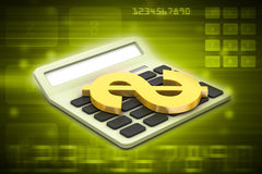 Calculator with dollar sign Stock Images