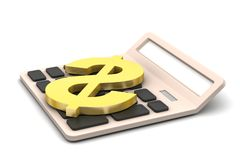 Calculator with dollar sign Royalty Free Stock Photography