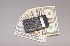 Calculator on dollars Royalty Free Stock Photography
