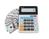 Calculator and Dollars Stock Images