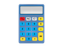 Calculator. Drawing calculator with basic functions Royalty Free Stock Photography