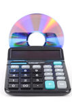 Calculator and DVD Stock Photography