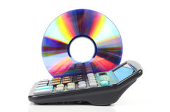Calculator and DVD Stock Images