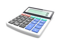 Calculator. Electronic calculator on a white. 3d image Royalty Free Stock Photo