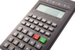 Calculator with emoticons Stock Image