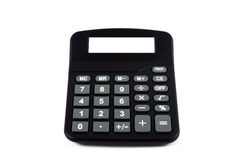 Calculator with empty display. As copy-space on a white background Royalty Free Stock Image