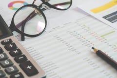 Calculator en documenten van persoonlijke begroting Financieel Beheer Concept royalty-vrije stock foto