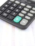 Calculator en grafiek Royalty-vrije Stock Foto