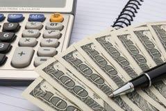 Calculator en ons dollars Stock Foto