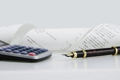Calculator en Pen Stock Afbeeldingen