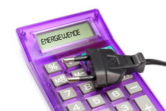 Calculator Energy Transition Royalty Free Stock Images