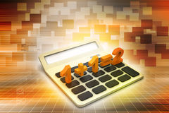 Calculator with equation Stock Image