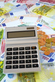 Calculator and euro currency Stock Photo