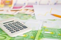 Calculator and euros Stock Photography