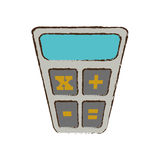 Calculator finance objetc office sketch. Illustration eps 10 Royalty Free Stock Images