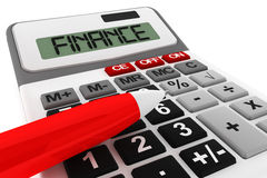 Calculator with finance sign Royalty Free Stock Photography