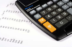 Calculator and Finances Stock Photos