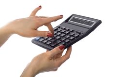 Calculator of financial crisis Stock Photos