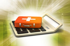 Calculator with first aid box Stock Photography
