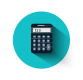 Calculator in flat design Royalty Free Stock Images
