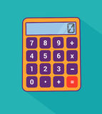 Calculator flat with long shadow Royalty Free Stock Photo