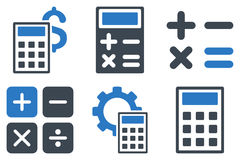 Calculator Flat Vector Icons Stock Images