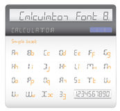 Calculator font Royalty Free Stock Photography