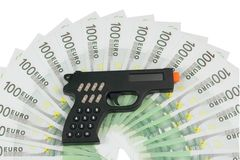 Calculator in the form of a gun Royalty Free Stock Photos