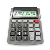 Calculator game over. Calculator with `game over` displayed, 3d rendering Stock Photo