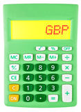 Calculator with GBP on display Stock Photos