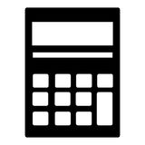 Calculator geïsoleerd pictogram over witte achtergrond Stock Afbeelding