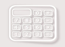 Calculator on gray background Stock Photos