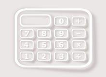 Calculator on gray background Stock Photos