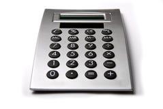 Calculator. Gray Calculator  isolated on white Stock Image