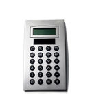 Calculator. Gray Calculator  isolated on white Royalty Free Stock Photography