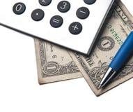 Calculator. Gray Calculator  isolated on white Stock Photos
