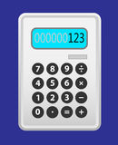 Calculator grey. Royalty Free Stock Photo