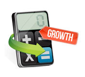 Calculator and growth sign illustration design. Over a white background Royalty Free Stock Photo